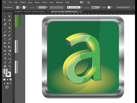 Creating a 3D Text Logo, Applying light and metallic effect in Adobe Illustrator