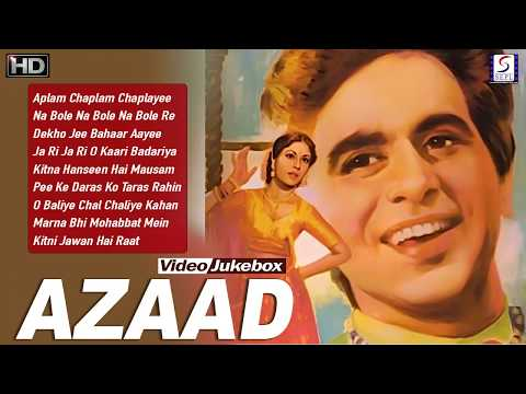 Dilip Kumar, Meena Kumari, - Azaad Super Hit Vintage Video Songs Jukebox - HD