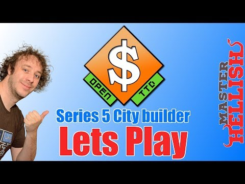 OpenTTD City Builder Lets Play S5 E9 Farm and Engineering Supplies