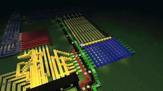 Minecraft invention counter,compteur, 2 digits, 2 chiffres, 7 segments