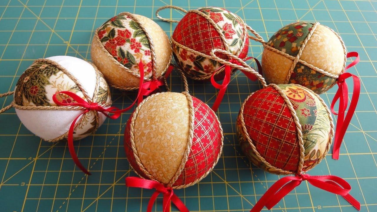 Новогодние шары из ткани своими руками