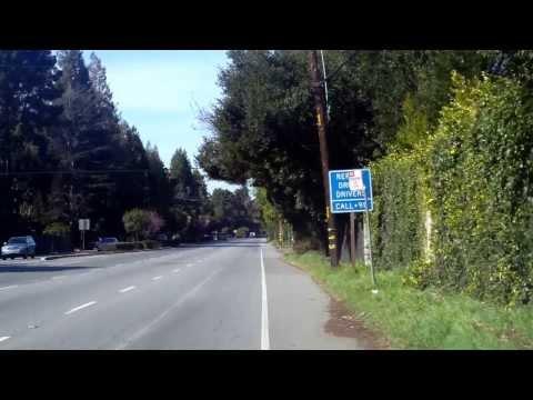 bicycling Menlo park to Redwood City.  Usa Calfornia