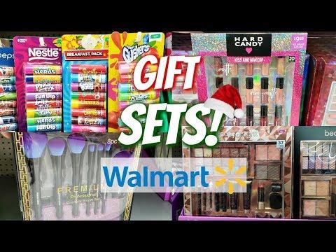 WALMART CHRISTMAS GIFT SETS STOCKING STUFFERS SHOP WITH ME 2018