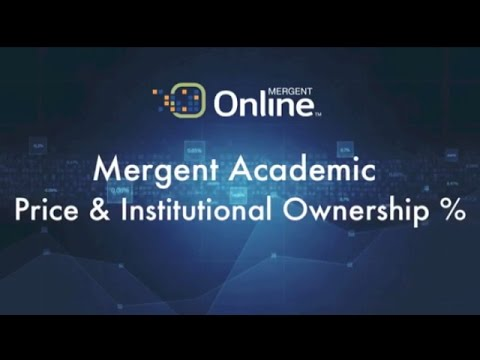 Ownership - Price & Institutional Ownership %