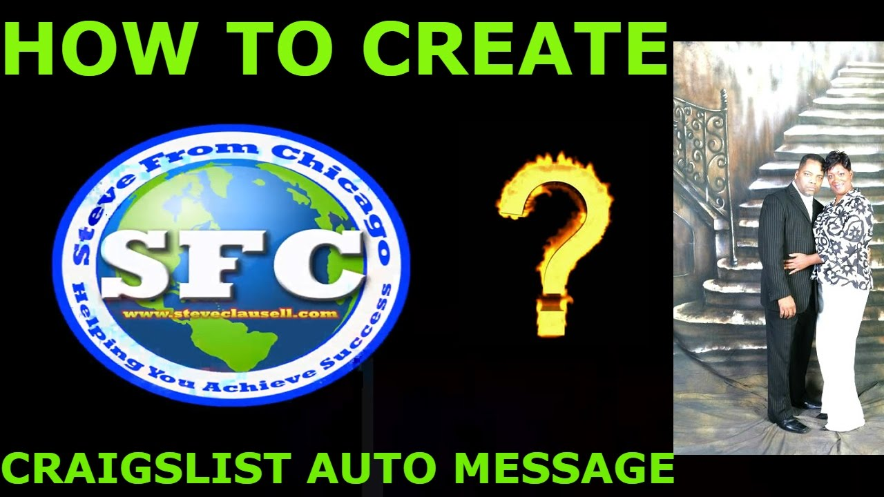 How To Create Craigslist Auto Response Email-Steve ...