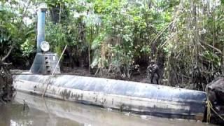 Incautan en Colombia sumergible con capacidad de llevar 8 tonela