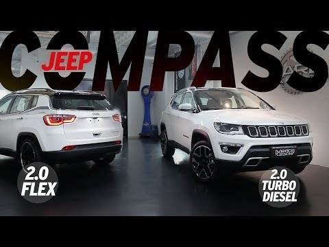 Jeep Compass LIMITED - Turbodiesel e Flex, ambos 2.0, passamos no dino, fuçamos...
