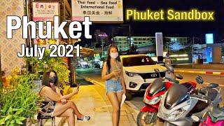 PATONG BEACH Phuket July 2021 - Second Road at NIGHT