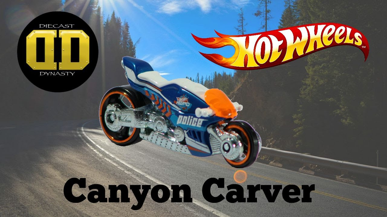Hw hot wheels 2015 hw city 48 250 canyon carver police motorcycle - Police Pursuits Feat Hw Canyon Carver