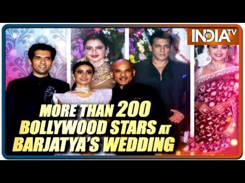 Bollywood celebrities attend filmmaker Sooraj Barjatya's son's wedding reception Mp3