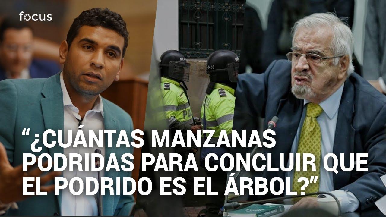Fuerte reclamo de Germán Navas y David Racero a la Policía