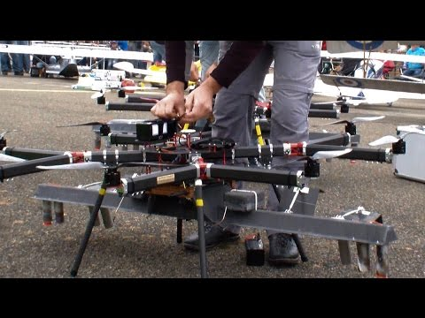 2x Industrial Heavy R/C Video-Firework OCTO-COPTER Fly to Tchaikowski rhythm