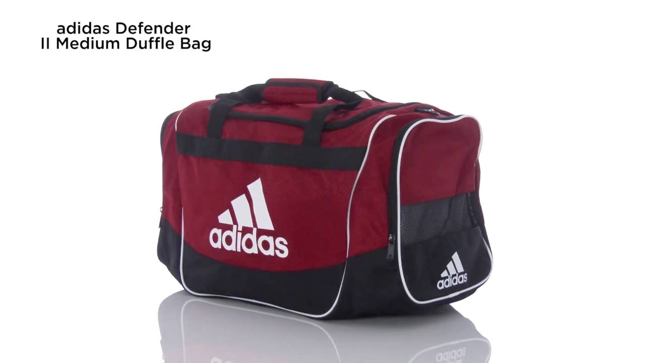 9c0603e1bb adidas Defender II Medium Duffle Bag - YouTube