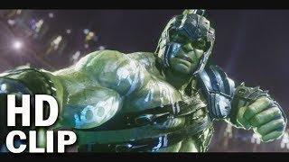 "Hulk did ""Puny God"" Scene with Thor In Thor Ragnarok | Hulk Vs Loki and Thor Movie Clip"