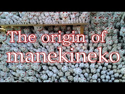 The origin of manekineko(Lucky cat) at Gotokuji-temple in Japan