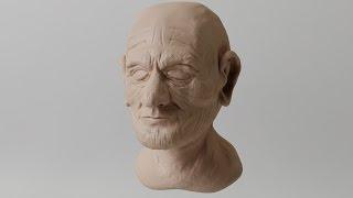 Old Man Timelapse Blender Sculpt