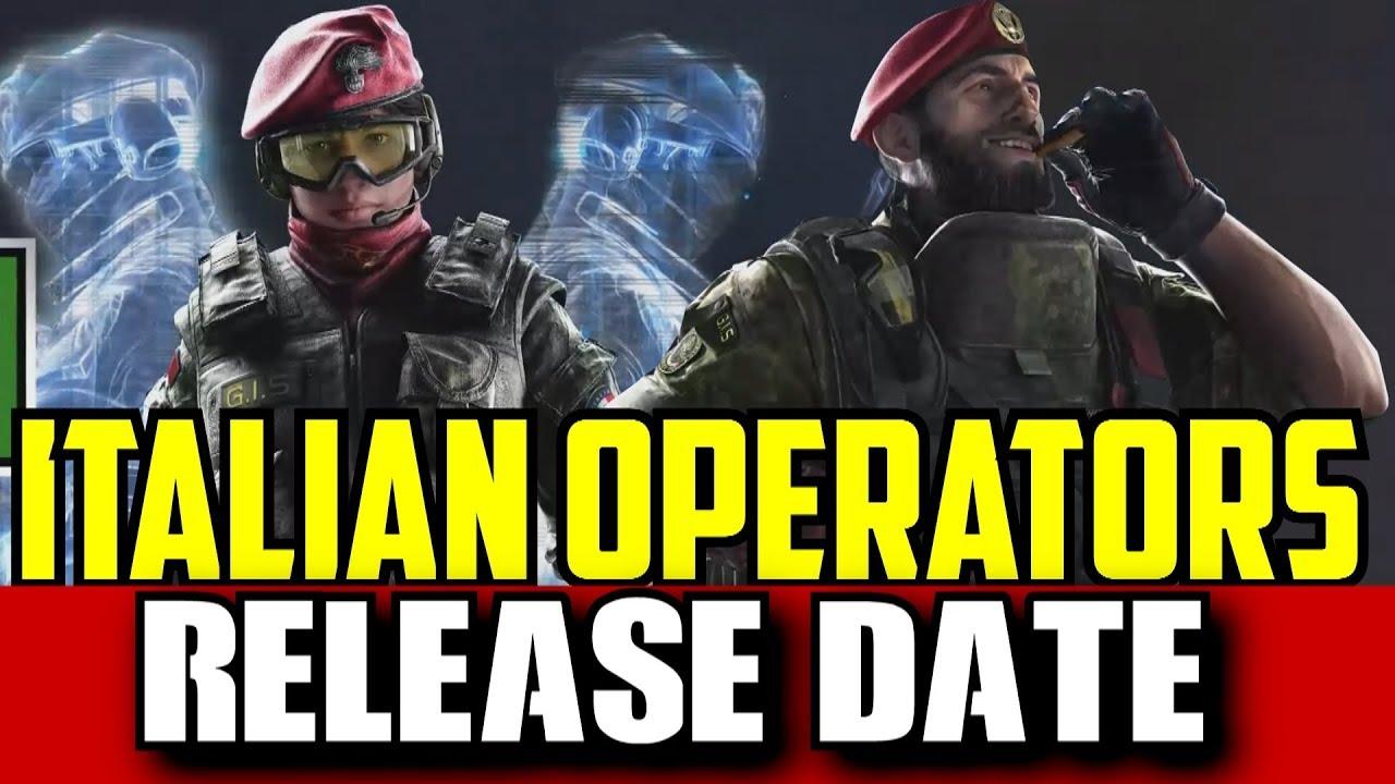 Rainbow Six Siege Italian Operators Release Date! R6 Alibi Maestro