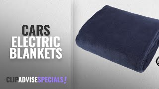 Top 10 Cars Electric Blankets [2018]: Electric Car Blanket- Heated 12 Volt Fleece Travel Throw for