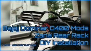 Bajaj Dominar D400 Modifications | DIY | Rear Rack Installation | Zana Motorcycles Delhi