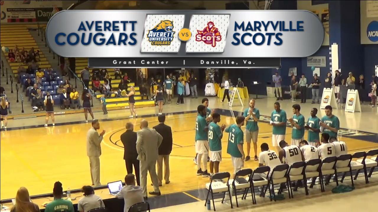 Averett men's basketball vs. Maryville - YouTube