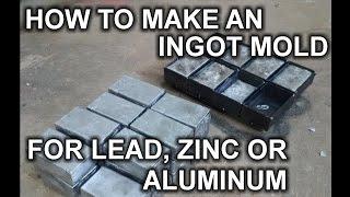 ingot making melting scrap aluminium into cool ingots metal