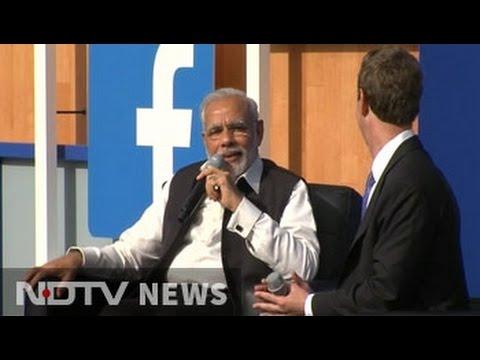 PM Modi addresses Townhall with Mark Zuckerberg at Facebook headquarters