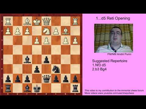 Chess - The 1...d5 Reti Opening (for black) - 2. b3