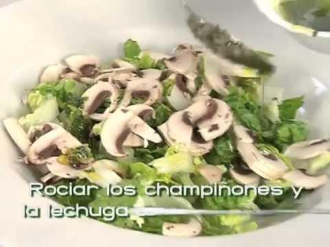 preparar champinones frescos para ensalada
