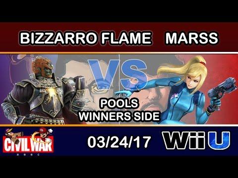2GGC: Civil War - Bizzarro Flame (Ganondorf) Vs. DNL | Marss (Zero Suit Samus) Pools Winners Side
