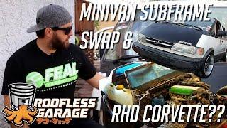 1JZ Minivan Swap And RHD Drift Corvette C3 / Roofless Garage