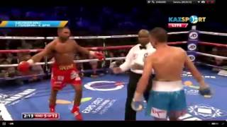 Бой - Геннадий Головкин VS Келл Брук (5 раунд нокдаун)