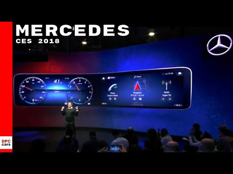 Mercedes at CES 2018 - MBUX Cockpit User Experience