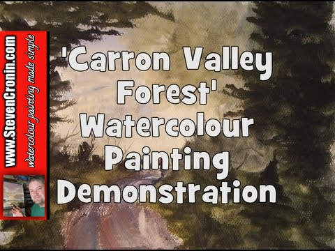 Carron Valley Forest Watercolour Landscape Painting Demo