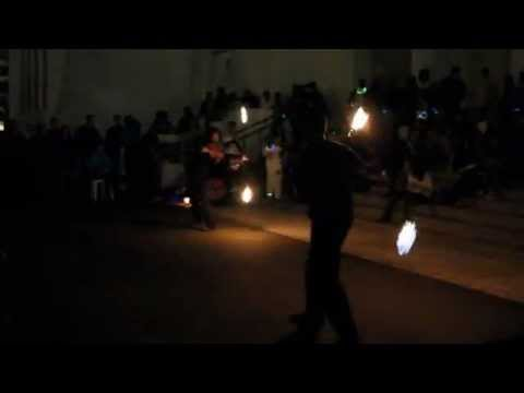 Fire Spinners Earth Hour Bermuda Mar 31 2012