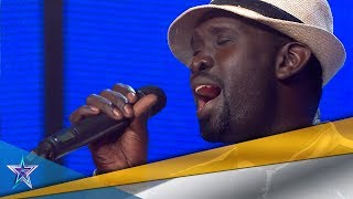 Download lagu ¡Menuda VOZ! ¡Este SENEGALÉS consigue un PASE DE ORO! | Audiciones 7 | Got Talent España 5 (2019)