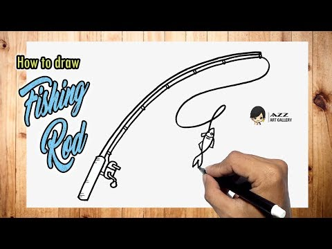How To Draw A Fishing Rod Easy