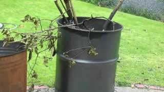 How to make a high performance cyclone burning barrel garden incinerator from an oil drum