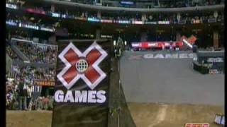 Caida de Paris Rosen Best Trick X Games 16 (Paris Rosen tries front flip)