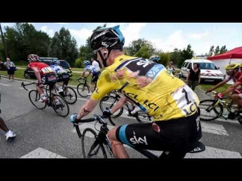 Chris Froome 2014 Tour De France Stage 5 Crashes reaction