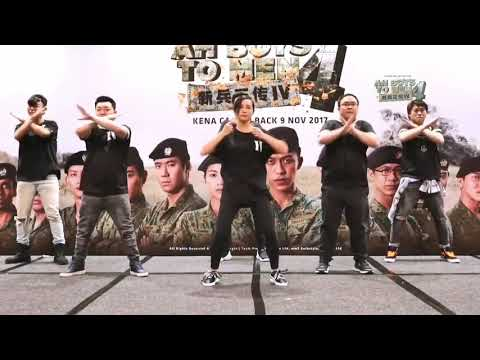 Frontline soldiers dance by Ah Boys To Men 4 new cast