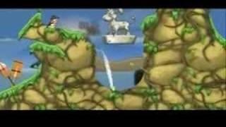 Worms Open Warfare 2 (PSP) - Concrete Donkey