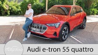Audi e-tron 55 quattro Fahrbericht / Kann Audi's Elektro SUV Tesla das Wasser reichen? - Autophorie