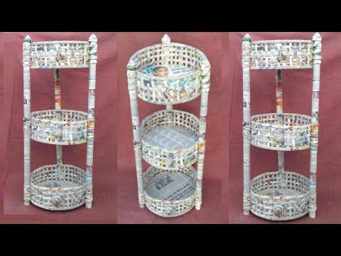 multi storage basket | newspaper basket | newspaper tokri | newspaper craft | HMA##186