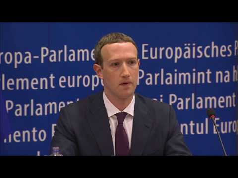 Facebook's Mark Zuckerberg meets with the European Parliament