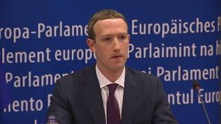 Facebook's Mark Zuckerberg meets with the European Parliament