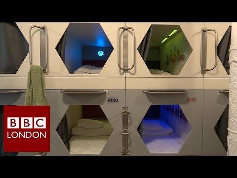 London's First Capsule Hostel - BBC London News