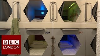 London's first capsule hostel - BBC London News