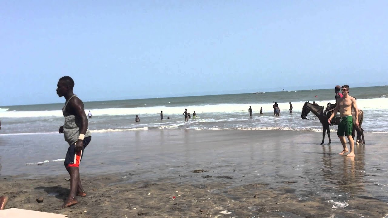 football on kokrobite beach ghana youtube