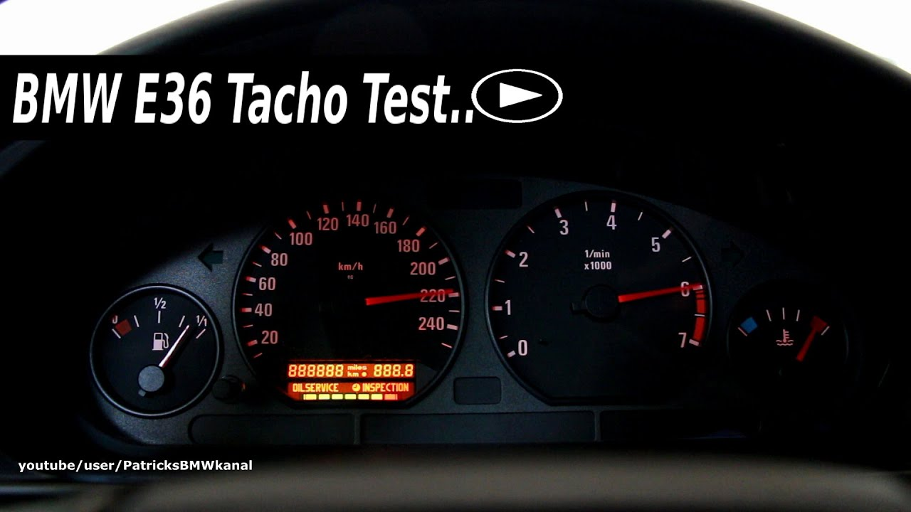 Bmw E36 Tacho Test Youtube