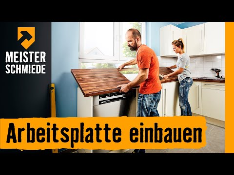 arbeitsplatte einbauen hornbach meisterschmiede youtube. Black Bedroom Furniture Sets. Home Design Ideas